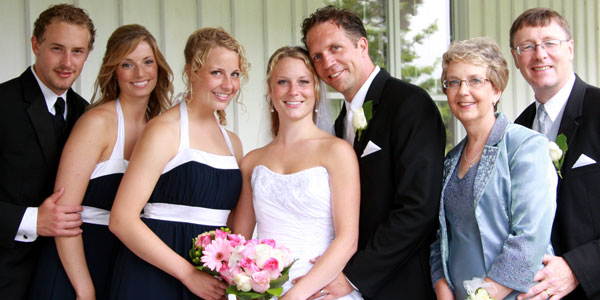 Corry family wedding picture